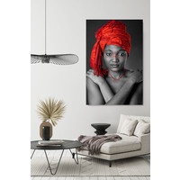 red headwrap