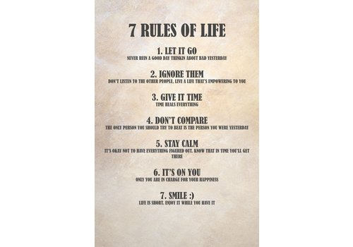 Dutch Art Explosion 7 rules of life