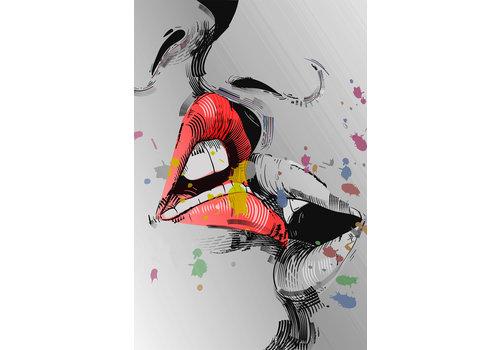 Dutch Art Explosion Kissing