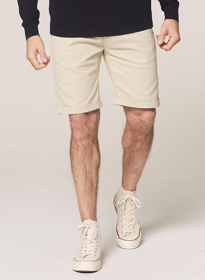 Chino korte broek dense twill | Sand
