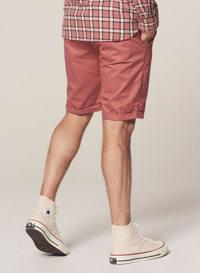 Wayne Chino Shorts Dense Twill | Old Pink