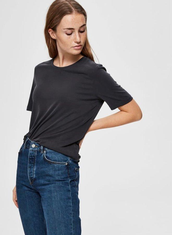 Ella T-shirt | Zwart