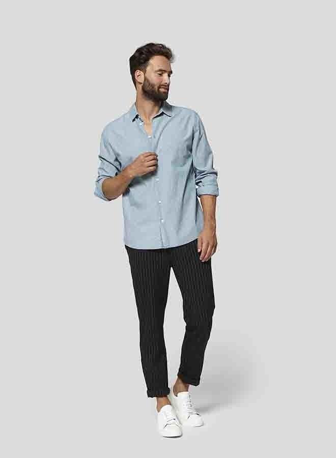Calvin Shirt Dots | Helder Blauw