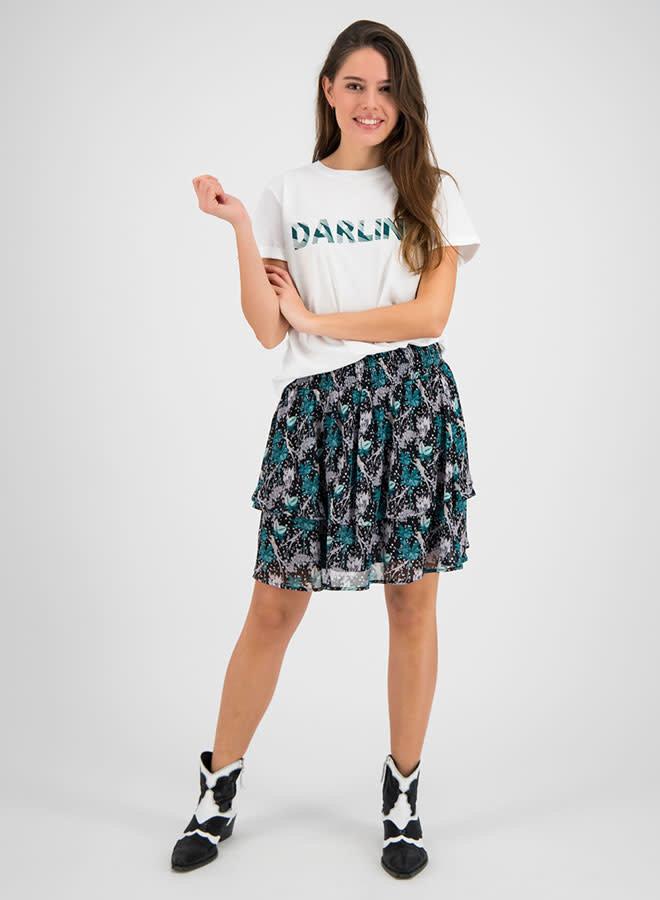 Yente Skirt | Groen Zwart