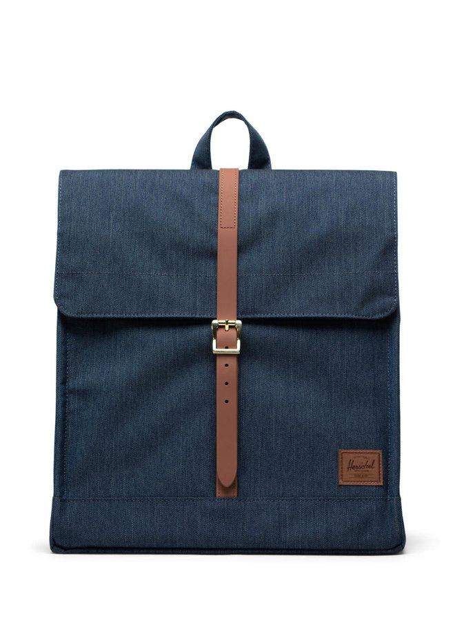 City Mid-Volume Indigo Denim Crosshatch