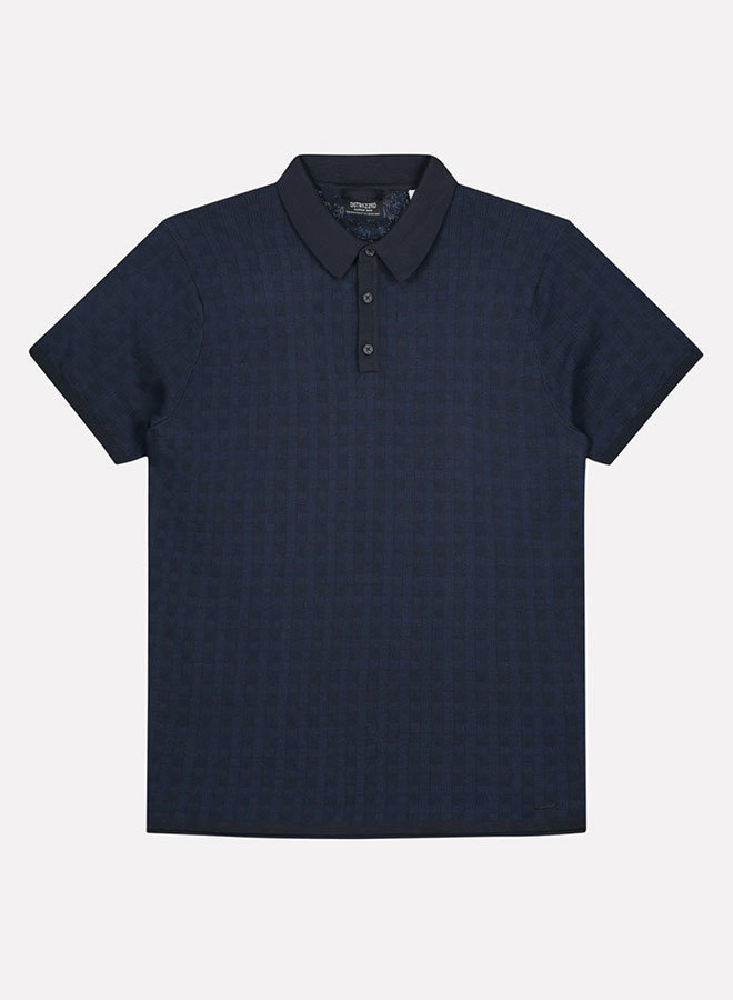 Polo Honeycomb Stretch | Dk. Navy