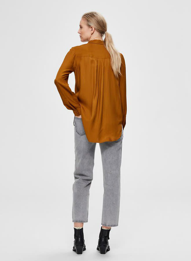 Araella-Odette Shirt | Bronze Brown