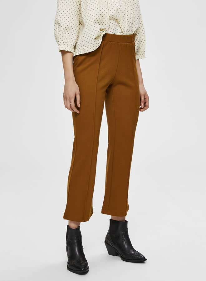 Caro Ankle Pant | Bronze Brown