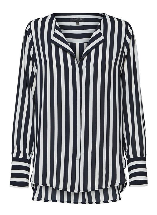 Stina-Dynella Aop Shirt |Dark Sapphire