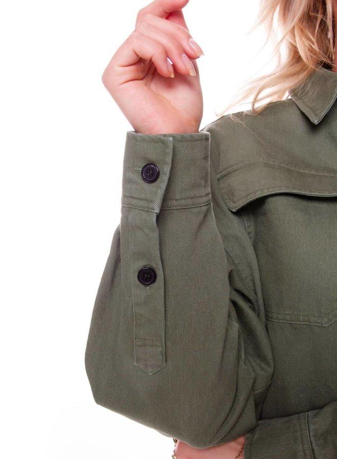 Sabrina Utility Blouse Women | Army