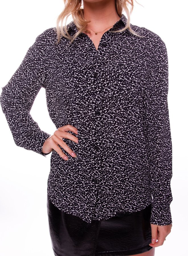 Lean Dots Loosefit Blouse Women | Zwart Wit