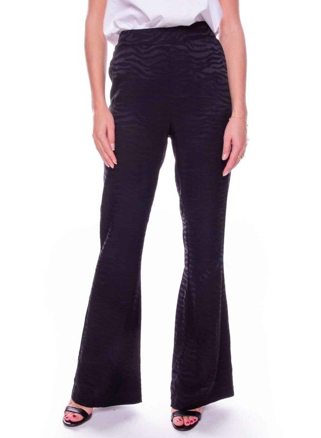 Zebra Flare Pants |  Zwart