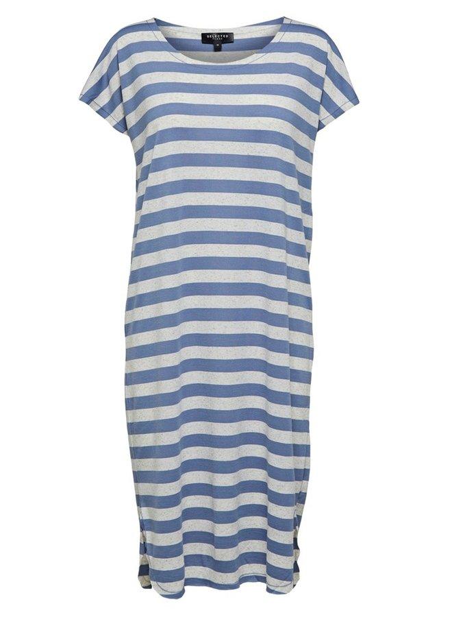 Ivy Knee Dress | Licht Blauw