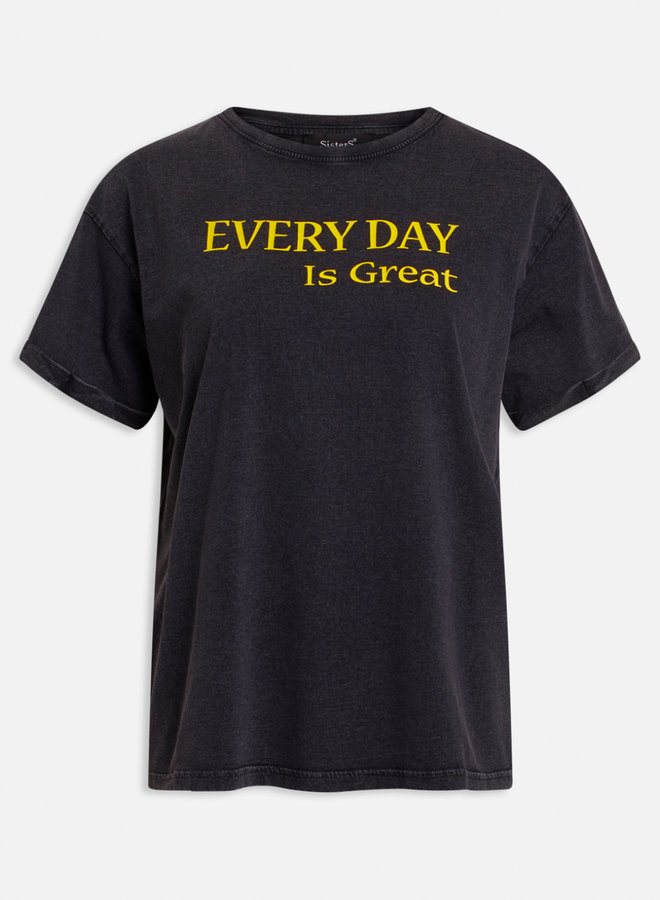 Every Day Is Great T-shirt | Grijs Geel