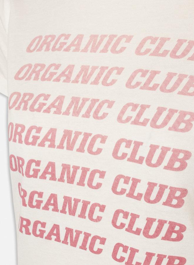 Herm Organic Club T-shirt | Wit Roze
