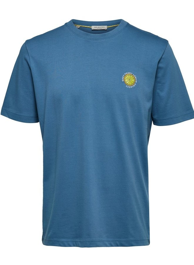 Easy Peasy Lemon T-shirt | Licht Blauw