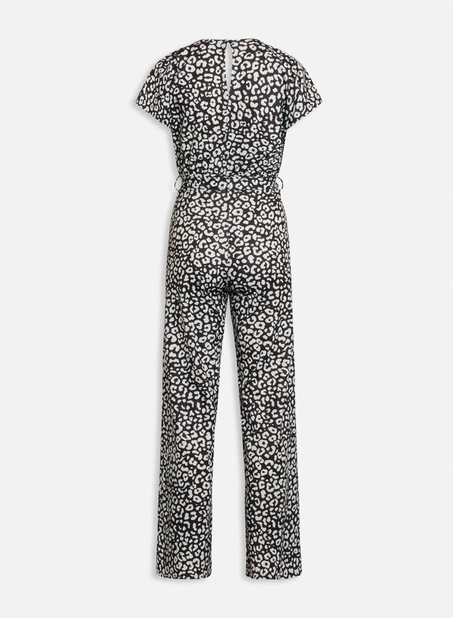 Girl Jumpsuit leopard   Zwart Wit