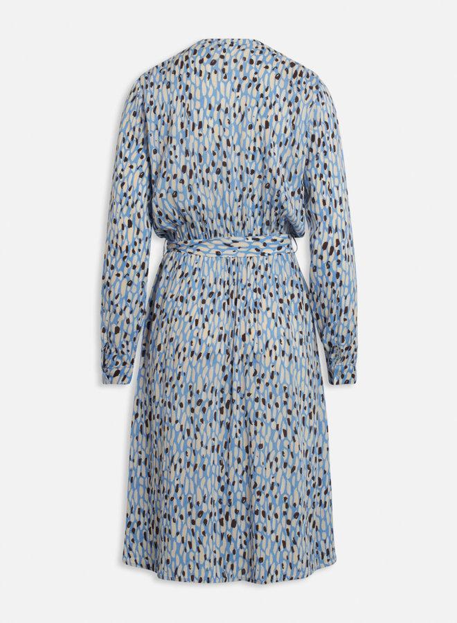 Elta Dress | Blue Animal