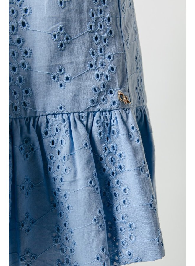Colourful Rebel - Beau Broderie Anglaise Dress - Blue