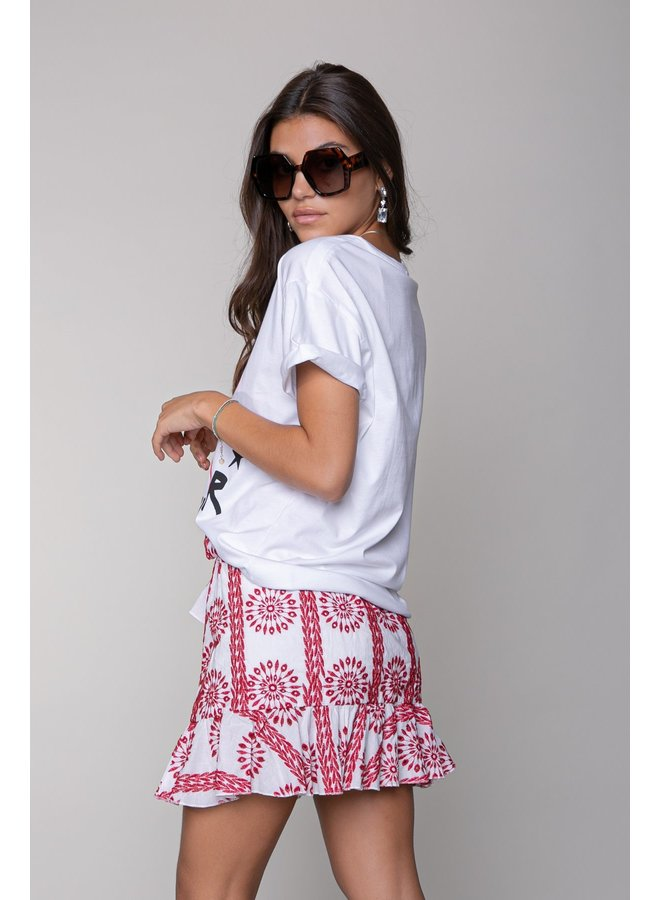 Colourful Rebel  - Shelby Broderie Anglaise Wrap Skirt