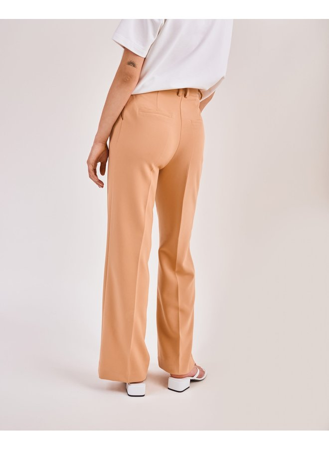 Another Label MOORE PLEATED PANTS - Latte