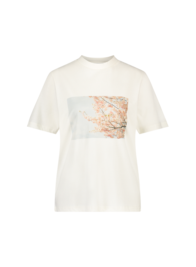 Another Label BLOSSOM T-SHIRT - Wit