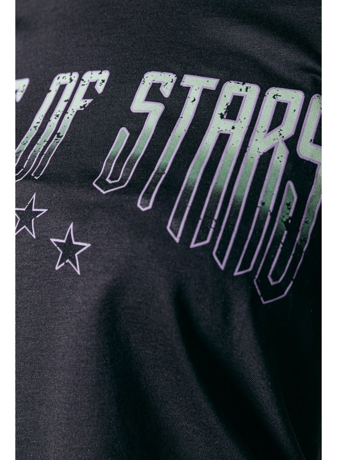 Colourful Rebel 11229 - Made Of Stars Tee Pirate Black