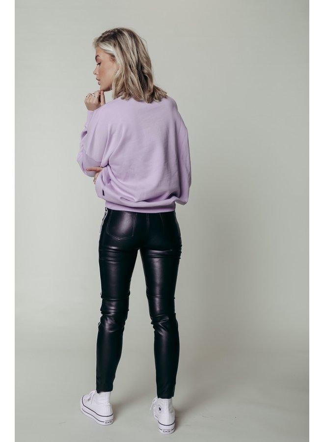 Colourful Rebel Girls Rhinestones Sweat Lilac