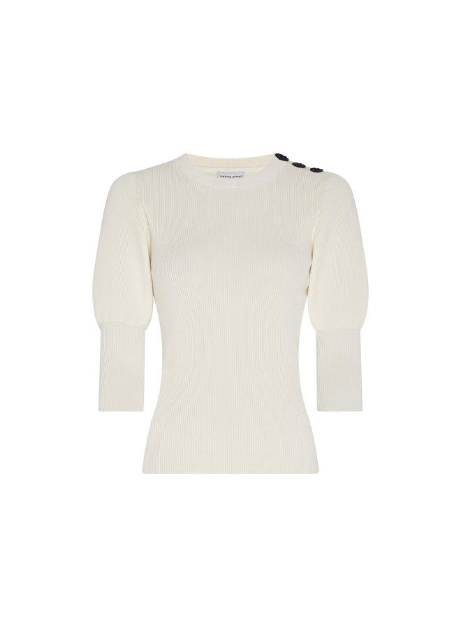 Fabienne Chapot Lillian Short Sleeve Pullover - Cream White