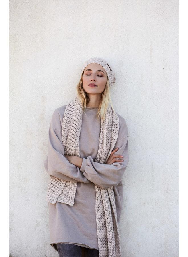 Moscow - Gebreide sjaal - Beige
