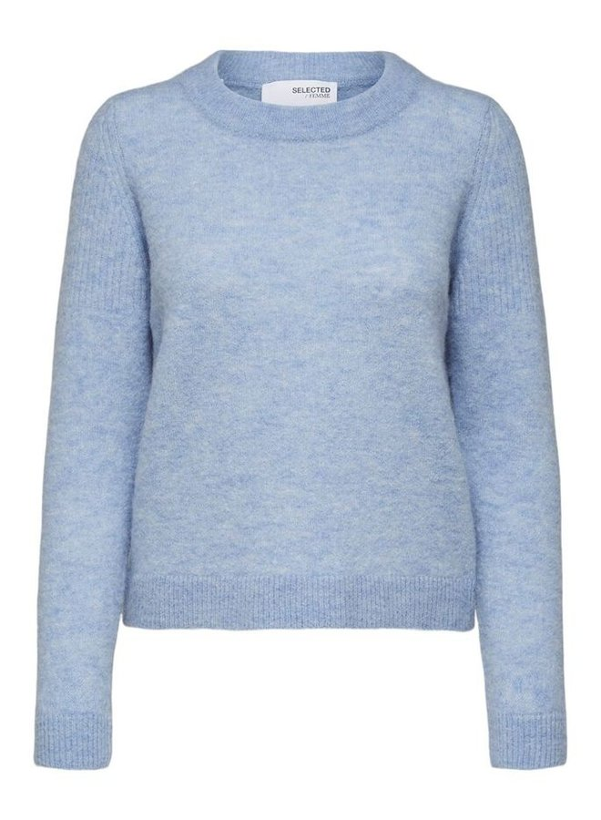 Selected Femme - Lichtblauwe Sweater