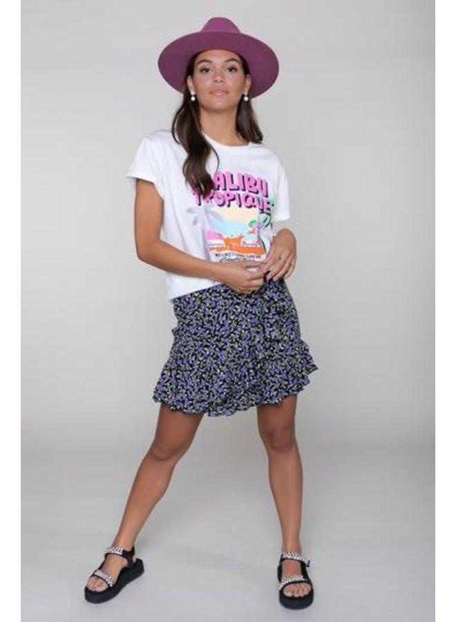 Colourful Rebel - Shelby Flower Mini Wrap Skirt