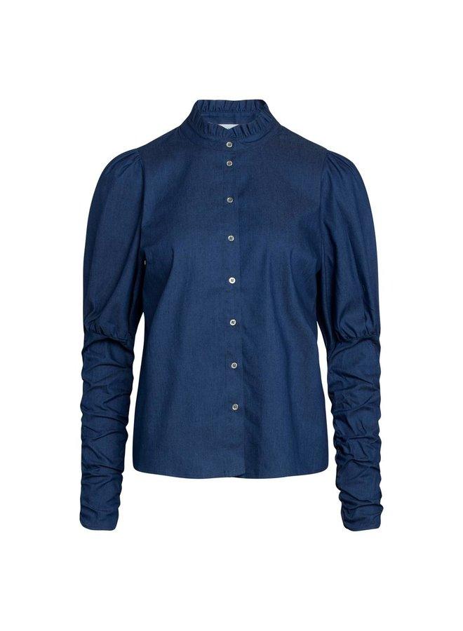 Co Couture - Sandy Denim Puff Shirt