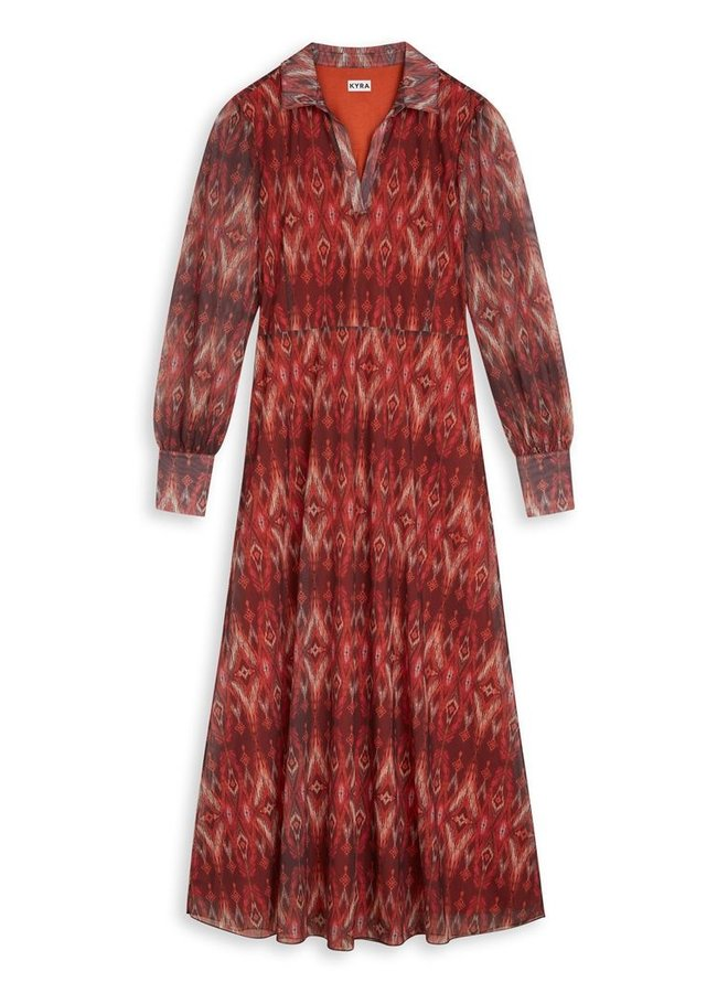Kyra - Peggy Dress - Warm Orange