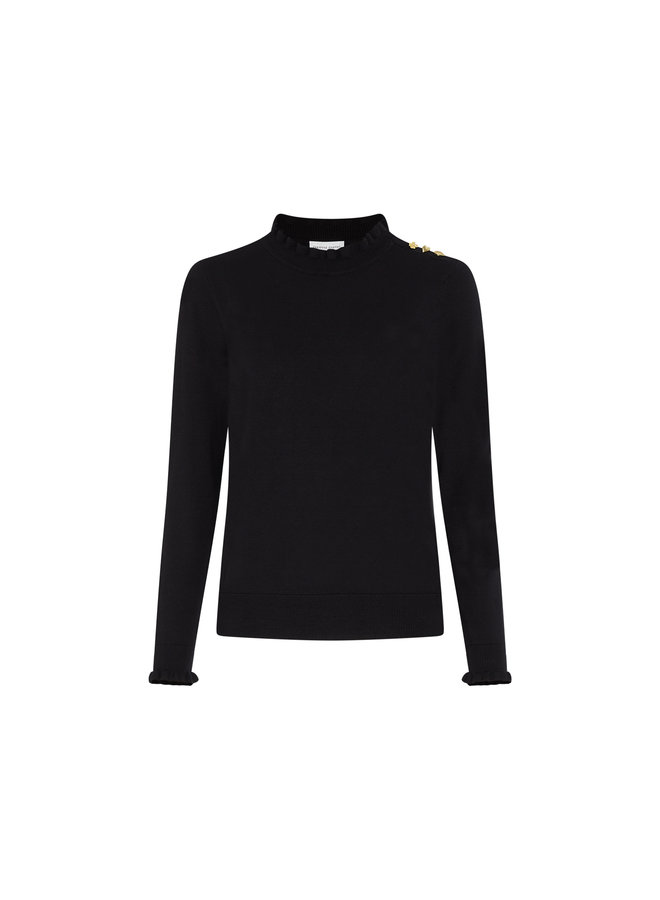 Fabienne Chapot - Molly Frill Pullover - Black