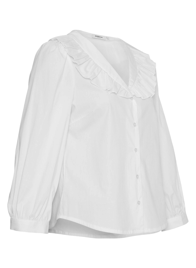 MSCH Copenhagen - Brisa Ava 3/4 Shirt - Bright White