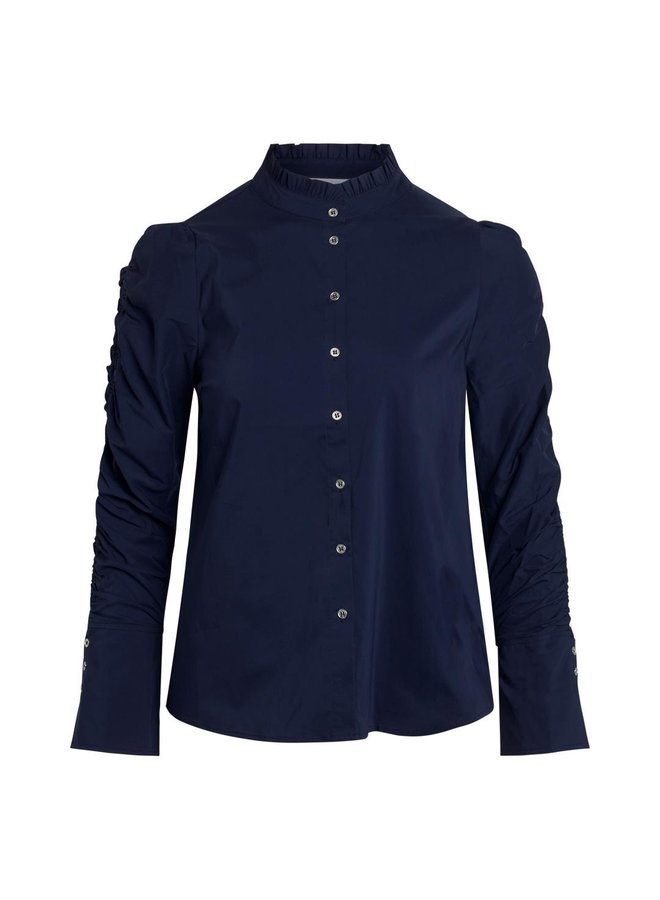 Co' Couture - Donkerblauwe blouse
