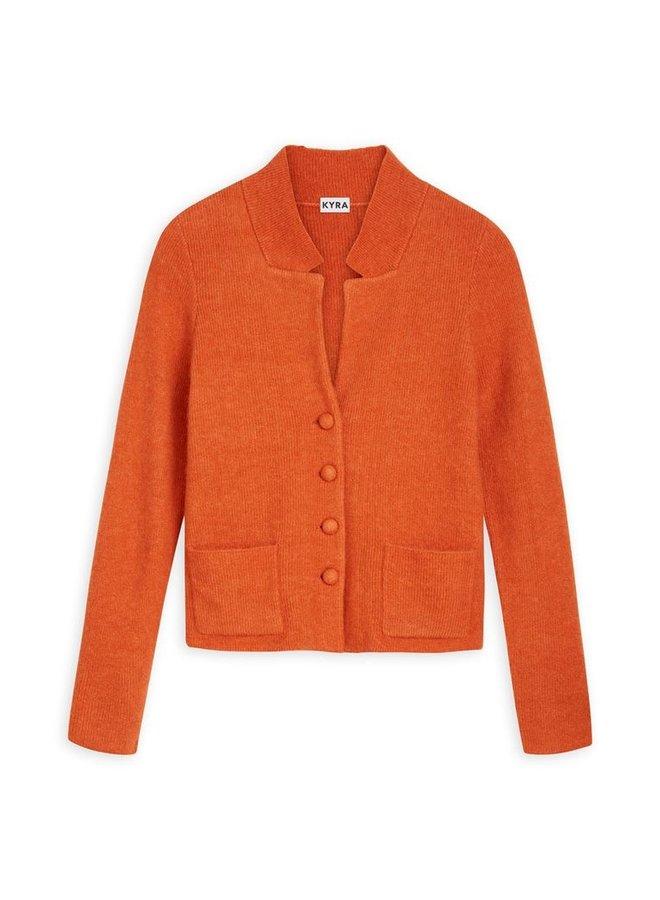 Kyra & Ko - knitted cardigan - warm orange