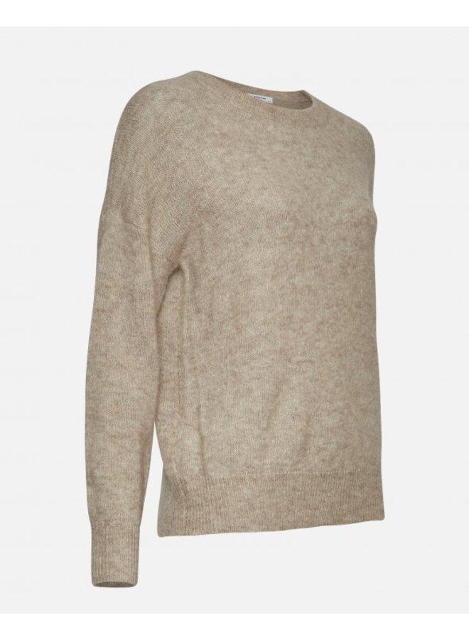 MSCH Copenhagen - Femme Mohair O Pullover - Oatmeal