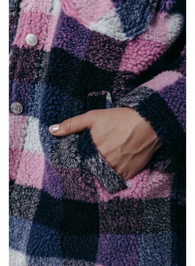 Colourful Rebel - Stella Rebelle Teddy Jacket   Light bright pink