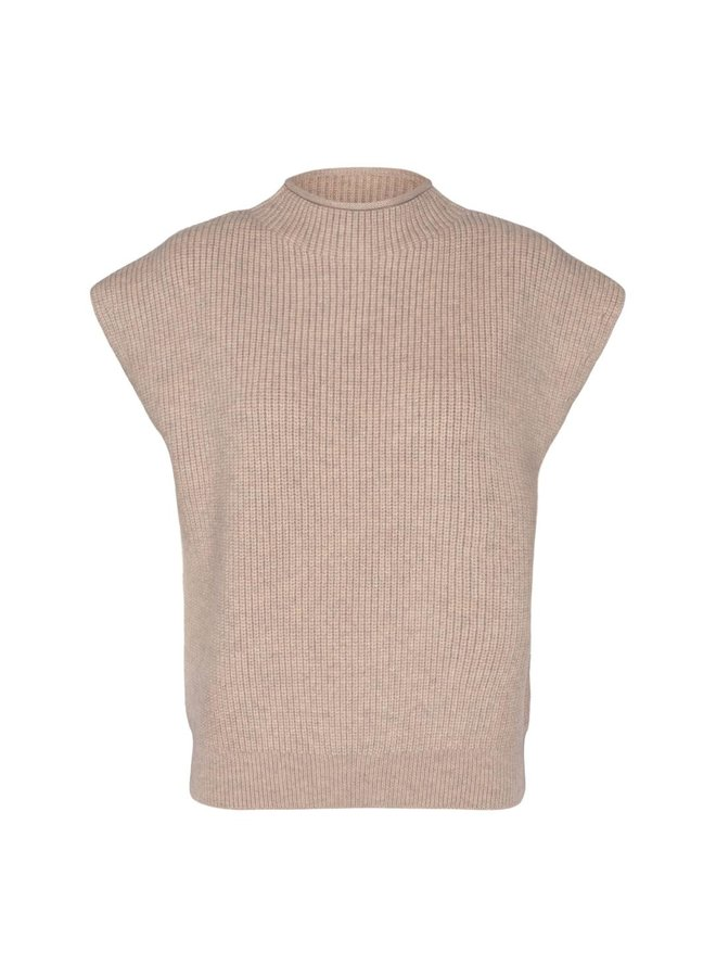 Co Couture - Row Wing Knit Vest - Bone