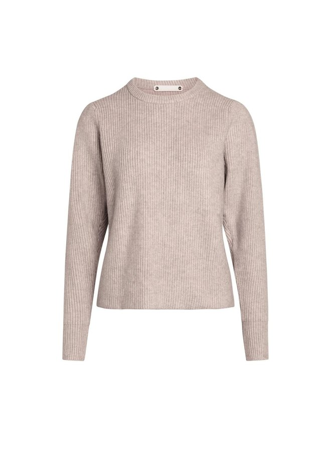 Co Couture - Row Puff Knit - Bone