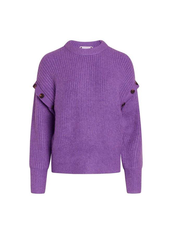 Co Couture - Rowie Button Knit - Purple