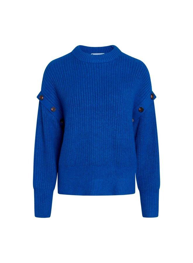 Co Couture - Rowie Button Knit - Blue