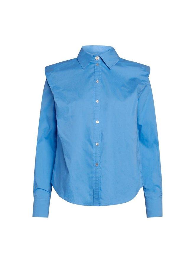 Co Couture - Coriolis Box Shoulder Shirt - New Blue