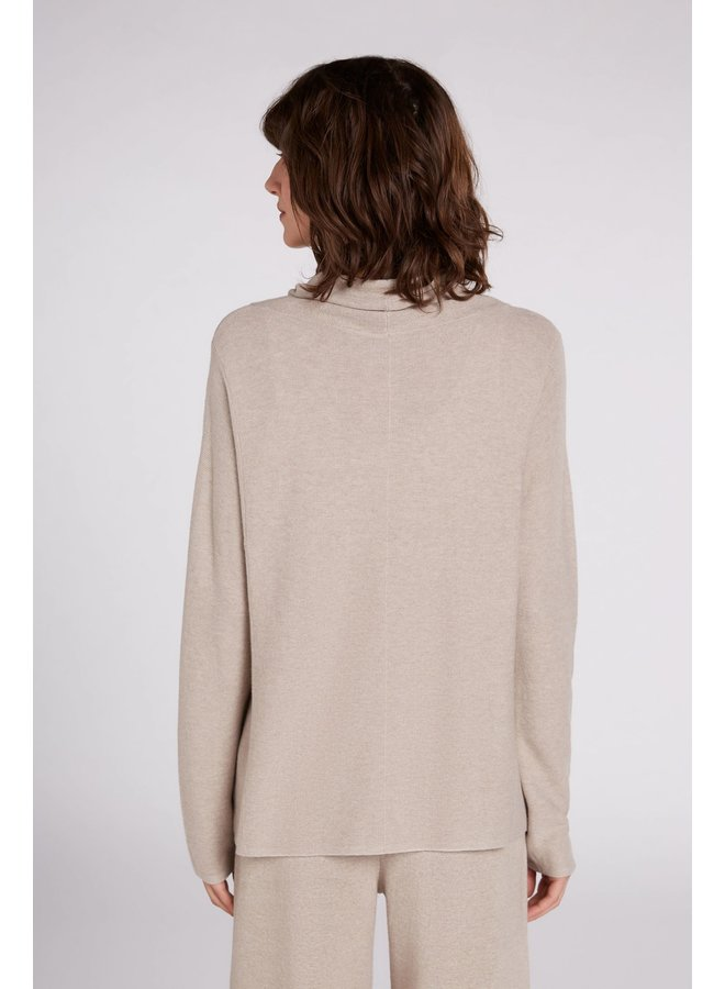 Oui - Knitted Jumper - Light Stone