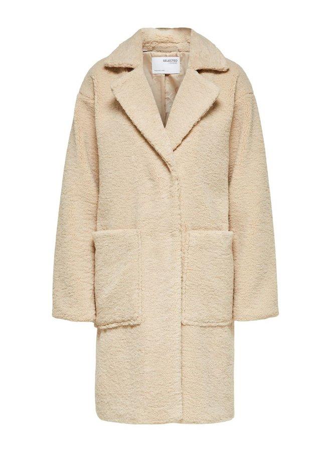 Selected Femme - Teddy Coat - Sand