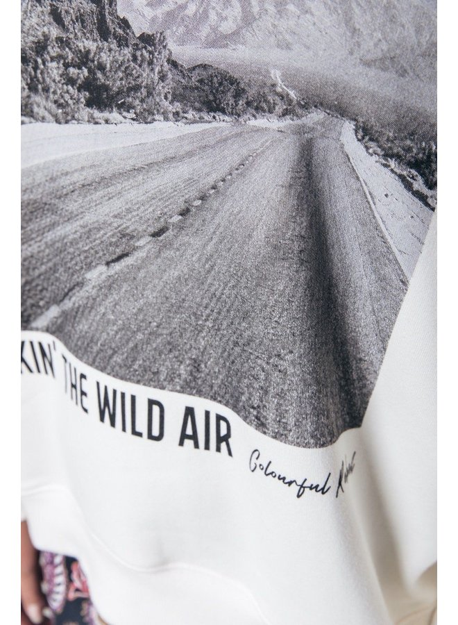 Colourful Rebel - Wild Air Dropped Shoulder Sweat   Off white