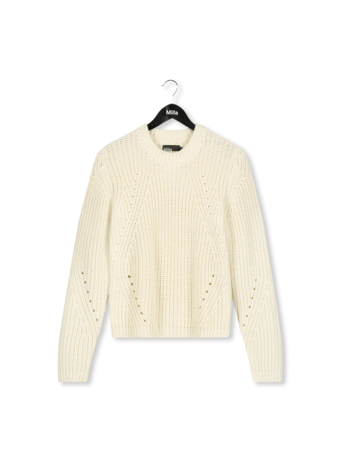 Milla - Sandy Sweater - Winter White
