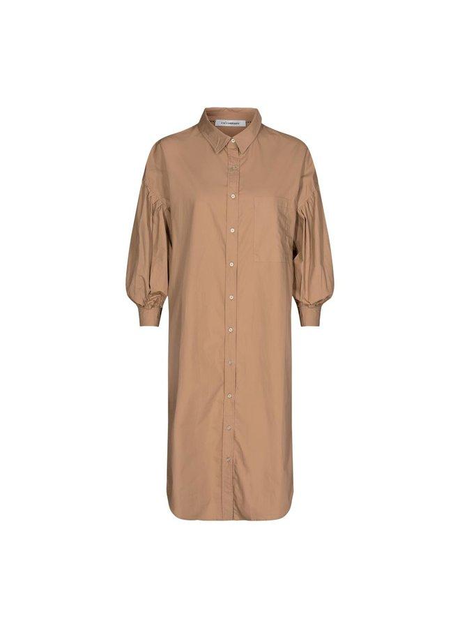 Co'Couture - Yates Shirt Dress - Khaki